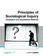 Image for the textbook titled  Principles of Sociological Inquiry: Qualitative and Quantitative Methods