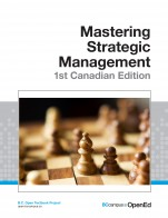 Image for the textbook titled Mastering Strategic Management - 1st Canadian Edition