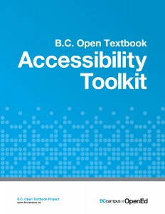 BC Open Textbook Accessibility Toolkit Cover