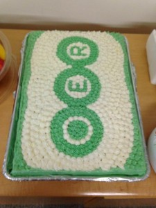 OER cake created for the pilot programme.