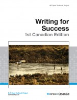 Image for the textbook titled Writing for Success - 1st Canadian Edition