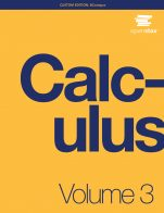 Image for the textbook titled Calculus: Volume 3 (OpenStax)