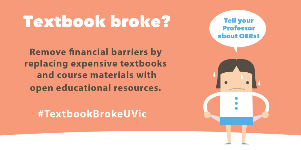 #TextbookBrokeUVic