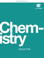 Image for the textbook titled Chemistry: Atoms First (OpenStax)