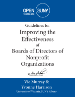 Image for the textbook titled Guidelines for Improving the Effectiveness of Boards of Directors of Nonprofit Organizations