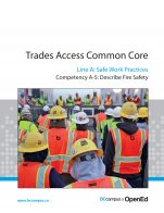 Image for the textbook titled Line A - Safe Work Practices Competency A-5: Describe Fire Safety