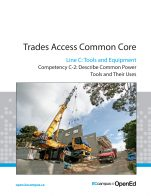 Image for the textbook titled Line C - Tools and Equipment Competency C-2: Describe Common Power Tools and Their Uses