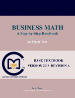 Image for the textbook titled Business Math: A Step-by-Step Handbook