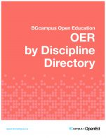 Image for the textbook titled OER by Discipline Directory