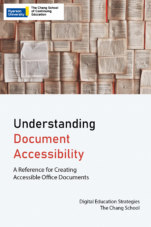 Image for the textbook titled Understanding Document Accessibility