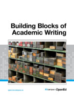 Image for the textbook titled Building Blocks of Academic Writing
