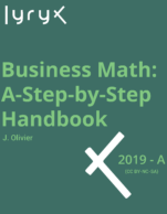 Image for the textbook titled Business Math: A Step-by-Step Handbook (Lyryx)