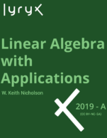 Image for the textbook titled Linear Algebra with Applications (Lyryx)