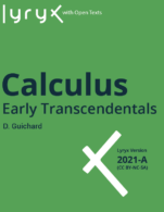 Image for the textbook titled Calculus: Early Transcendentals - 2021A (Lyryx)