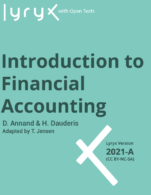 Image for the textbook titled Introduction to Financial Accounting - 2021A (Lyryx)