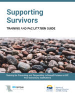 Image for the textbook titled Supporting Survivors: Training and Facilitation Guide