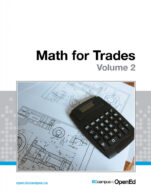 Image for the textbook titled Math for Trades: Volume 2